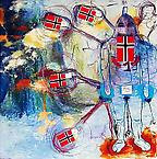 Untitled 1998 mixed media on canvas 200 x 200 cm