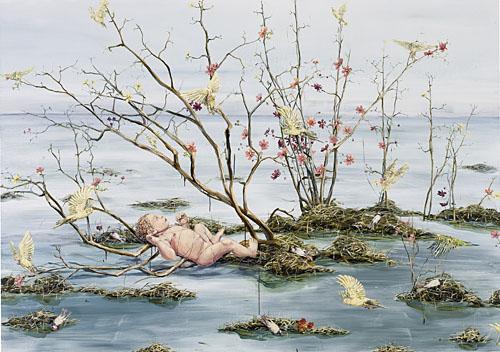 Barnet vid vattenytan 2006 oil on canvas 170 x 240 cm