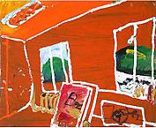 Lysrör och landskap 2003 oil on canvas 60 x 73 cm