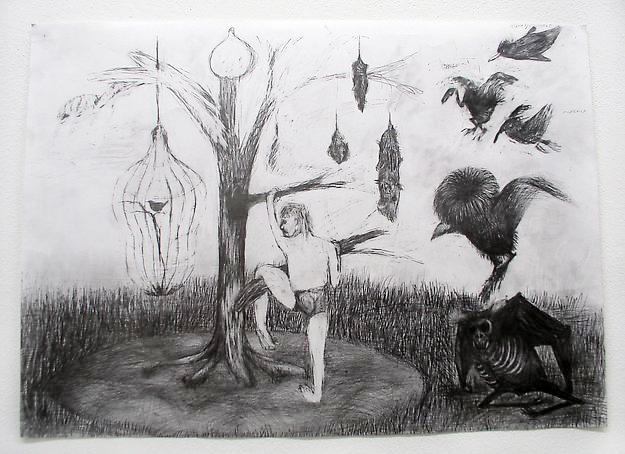 Untitled 2003 graphite on paper 70 x 50 cm