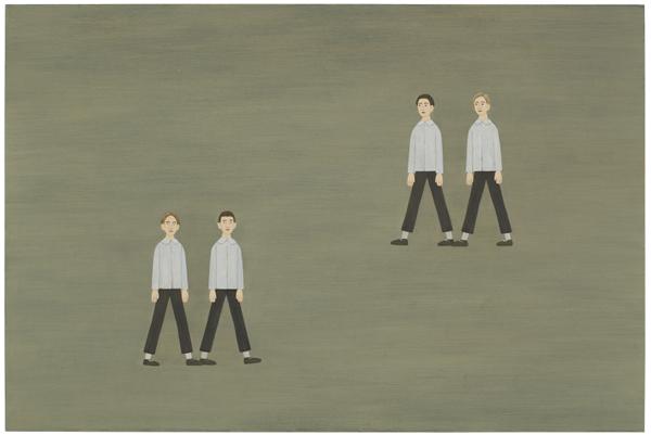 Promenad 2007 oil on panel 40 x 60 cm