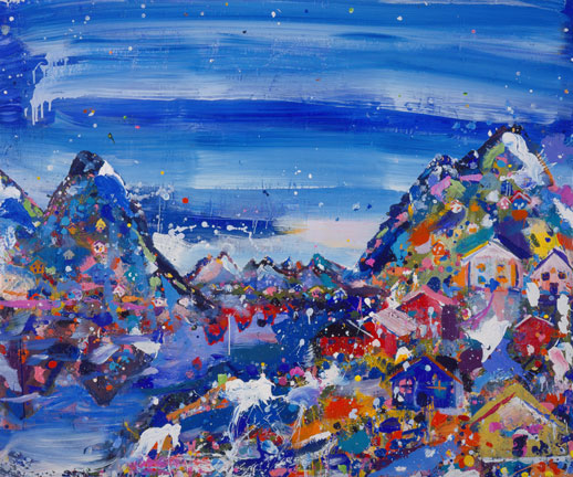 Svalbard 2005 acrylic on canvas 183 x 183 cm