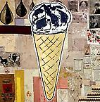 Bultaco 1998  acrylic & fabric collage on canvas  366 x 366 cm