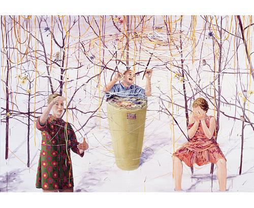 Galningarna 2005 oil on canvas 210 x 300 cm