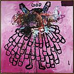 God 2008 oil on canvas 180 x 180 cm