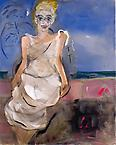 Writing about a lady between Zenith and Nadin 2010 acrylic on canvas 165 x 132 cm