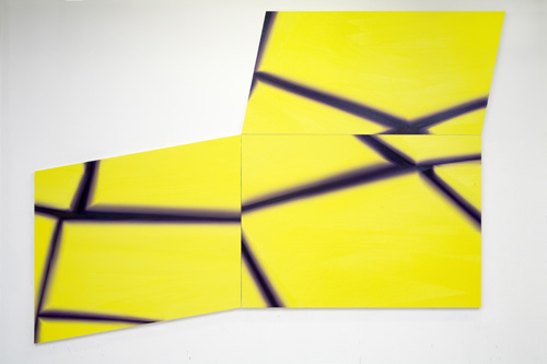 Misplaced in Yellow 2009 oil on MDF-board 240 x 340 cm