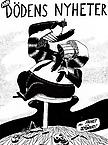 Nya Dödens Nyheter, med Frihet och Demokrati 1985 scratchboard drawing 42 x 30 cm