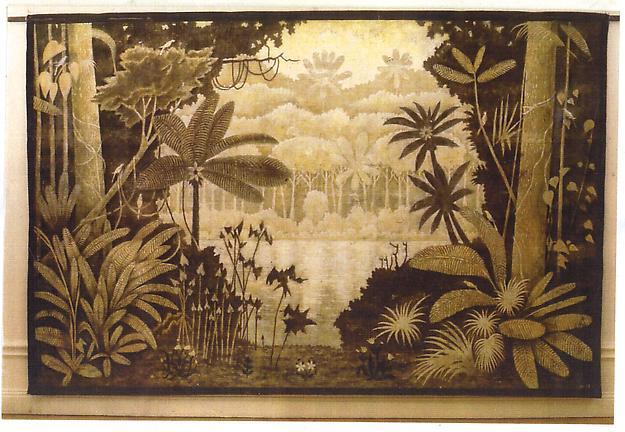 Bakgrundsfond - Floden 2003 mixed media 210 x 340 cm
