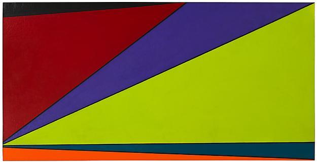 AGU 1960 oil on canvas 80 x 194 cm