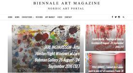 Biennale Art Magazine about Jarl Ingvarsson