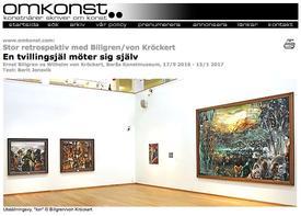 Omkonst about Ernst Billgren vs Wilhelm von Kröckert, Borås Konstmuseum