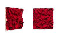 Carmin Ground, 2015/2016 pigmented polyvinyl, polyurethane 50 x 50 cm