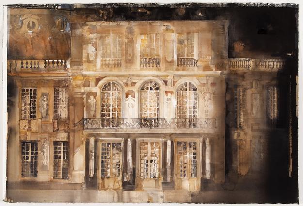 Paris  2010 watercolor on paper 100 x150 cm