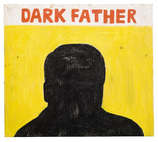 Dark Father 2011 pastel stick on wood 40 x 44 cm