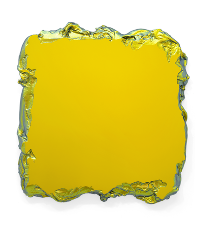 Gold to Green, 2015 Interference pigment, polyurethane 100 x 100 cm