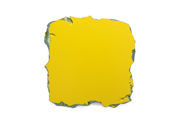 Gold to Green, 2015 Interference pigment, polyurethane 50 x 50 cm