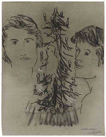 Hans Wigert Julgransplundring 2011 charcoal on paper 81 x 67 cm