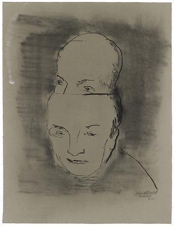 Hans Wigert Ägghuvud 2001 charcoal on paper 81 x 67 cm