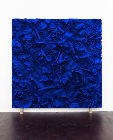 IKB Ground , 2015/2016 pigmented polyvinyl, polyurethane 150 x 150 cm