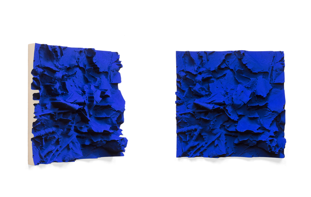 IKB Ground , 2015/2016 pigmented polyvinyl, polyurethane 50 x 50 cm