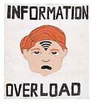 Information overload 2011 pastel stick on wood 45 x 40 cm