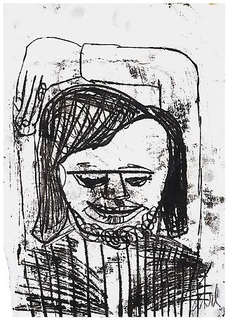 Jarl Ingvarsson Untitled 1999 monotypie, black ink on paper 72 x 55 cm