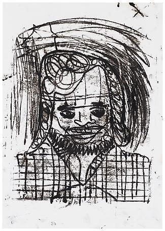 Jarl Ingvarsson Untitled 1999 monotypie,black ink on paper 72 x 55 cm