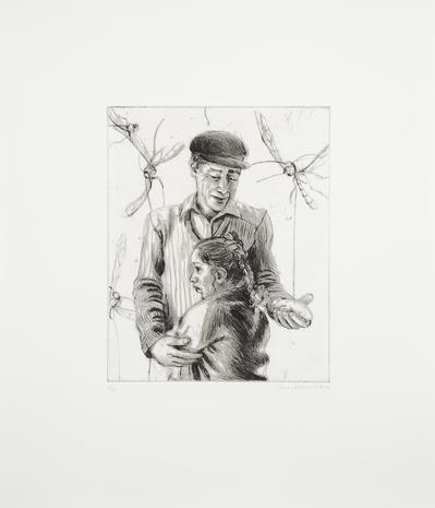 Drypoint Daggrisbegravning 2008 46 x 39 cm Ed. 25  SEK 6 000
