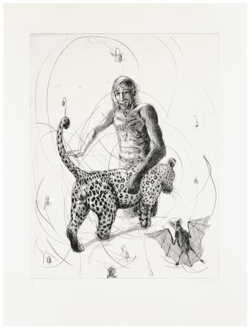Drypoint Vandrande leopard 2012 85 x 64 cm Ed. 25  SEK 12 000