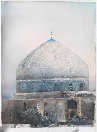 Moské 2009 watercolor on paper 150 x 100 cm