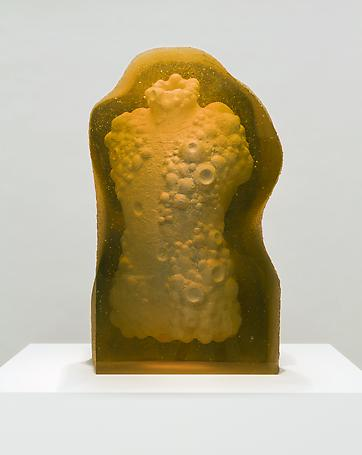 Breaking Loose/Giving in (torso) 2013 casted glass 61 x 36 x 26 cm