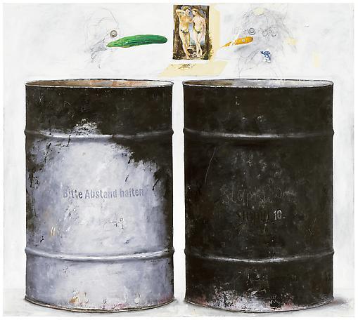 Oljefat - Paradis 2012 oil on canvas 130 x 145 cm