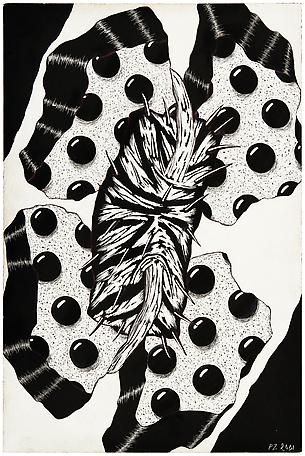 Petter Zennström Untitled 2001 scratchboard drawing 23 x 16 cm