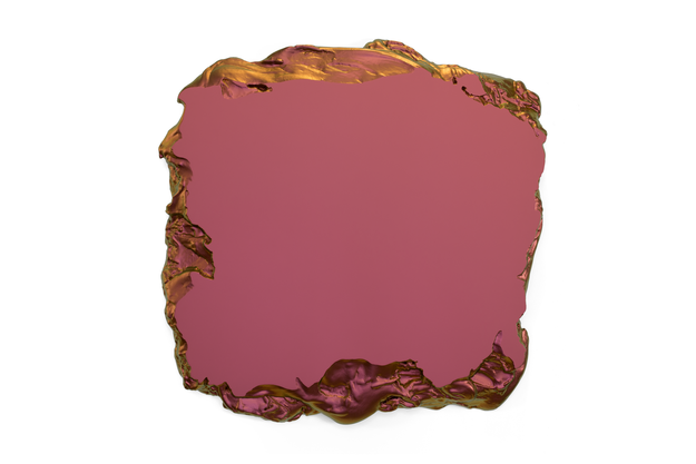 Red to Gold, 2015 Interference pigment, polyurethane 100 x 100 cm