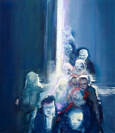Moments - crowd 1  2012 oil on canvas 150 x 130 cm