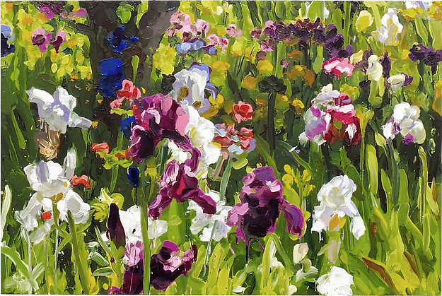 Iris Garden 8 2013 oil on canvas 165 x 110 cm