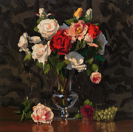 Bouquet 1 2014 oil on canvas 200 x 200 cm
