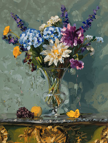 Bouquet 3 2014 oil on canvas 200 x 150 cm