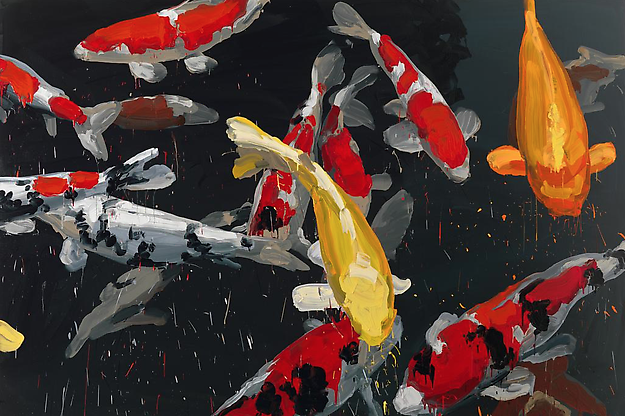 Koi 6 2013 oil on canvas 200 x 300 cm