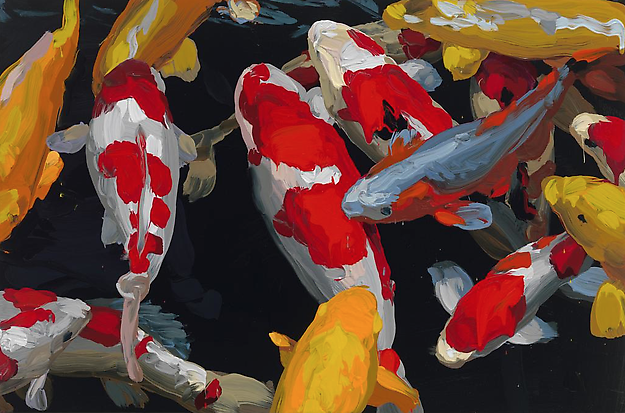 Koi 28 2013 oil on canvas 60 x 90 cm