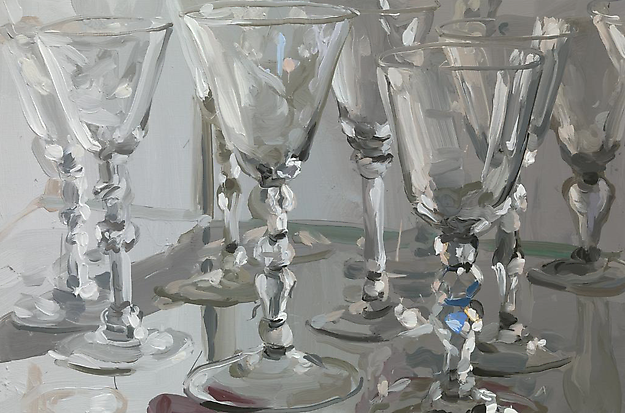 Glass 9 2014 oil on canvas 60 x 90 cm