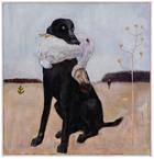 """Tallyho, tallyho, den sista dronten är skjuten, tallyho!"" 2013 oil on canvas 74 x 72 cm"