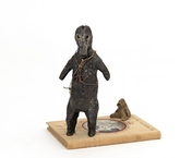 Actual Size, Etiquette 2015 bronze and mixed media 22 x 19 x 14 cm