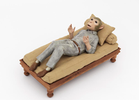 Monkey Mind 2014 bronze and mixed media 30 x 60 x 30 cm