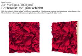 SVD about Juri Markkulas exhibition RGB Jord