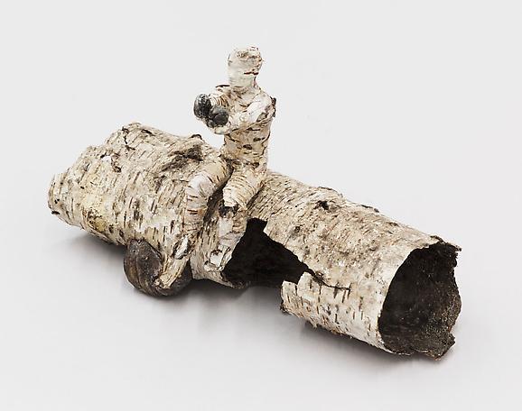 Channeling  2012 birch bark and dental plaster 14 x 34 x 40 cm