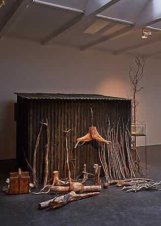 The keeper's tools 2014 installation, mixed media