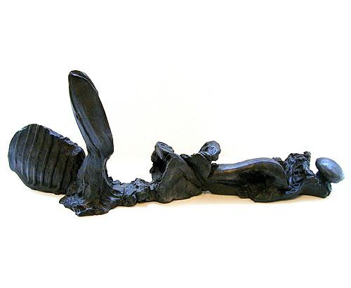 Polimorfismo em repouso 2000 bronze 64 x 140 x 25 cm