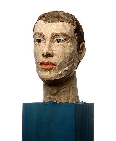 Kolonnhuvud (man) 2007 wawa wood 163 cm